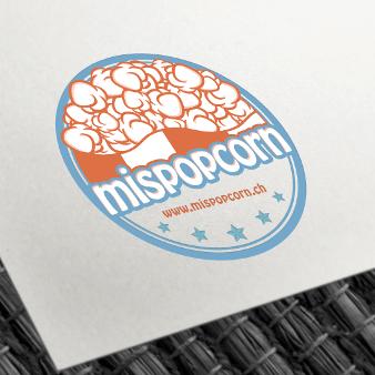 mispopcorn Emblem Logo Design