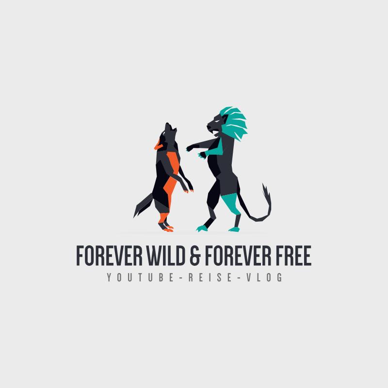 forever wild and forever free youtube logo design vlog