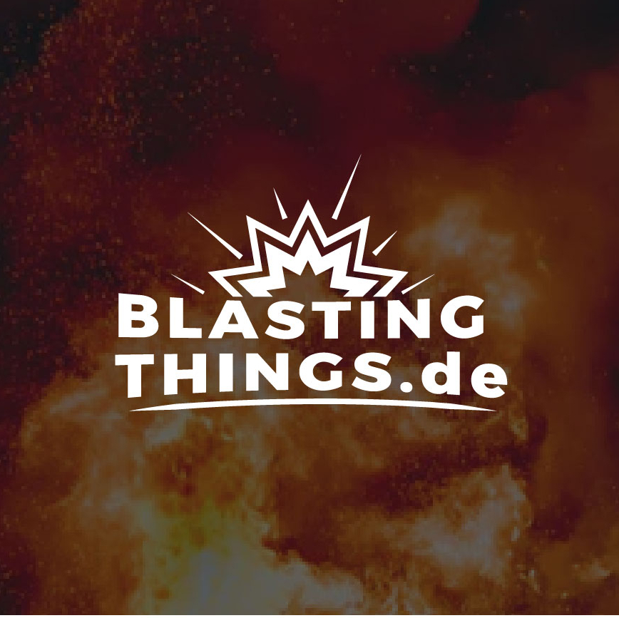 youtube logo design blasting things