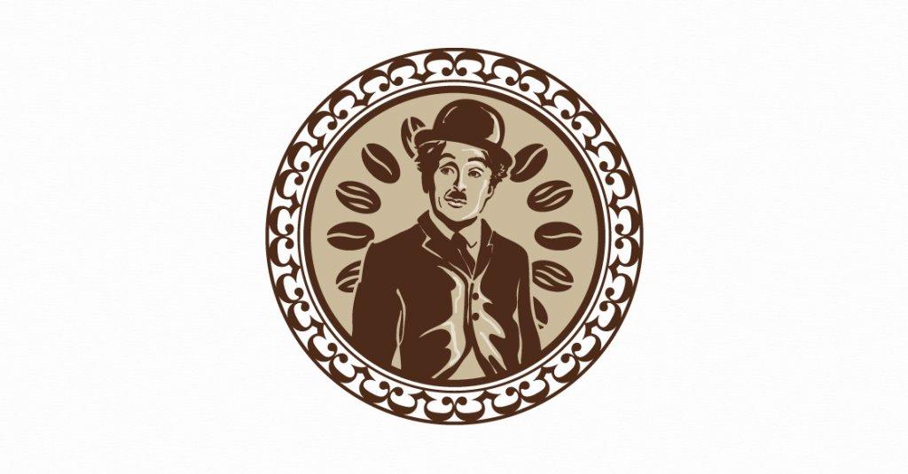 495318 Kaffehauskette Rundes Vintage Logo