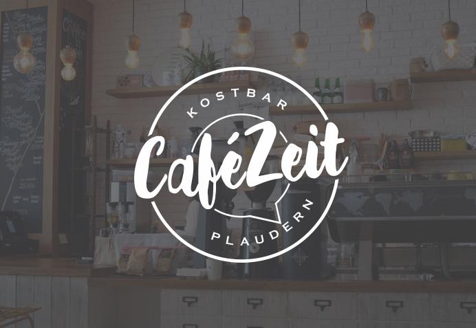 628497 Cafe Zeit Rundes Logo Design Vintage Look
