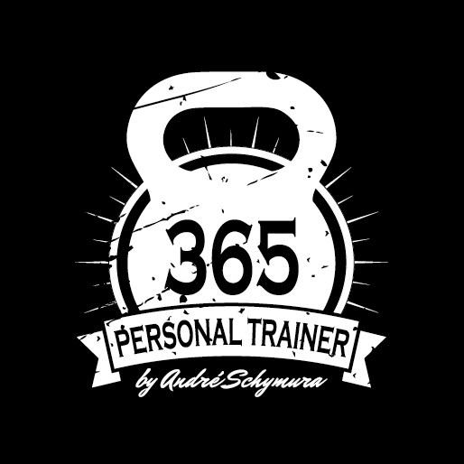 698739 365 Personal Training Black White Logo Retro