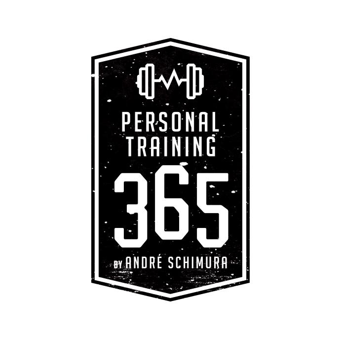 698739 365 Personal Training Logo Retro Style