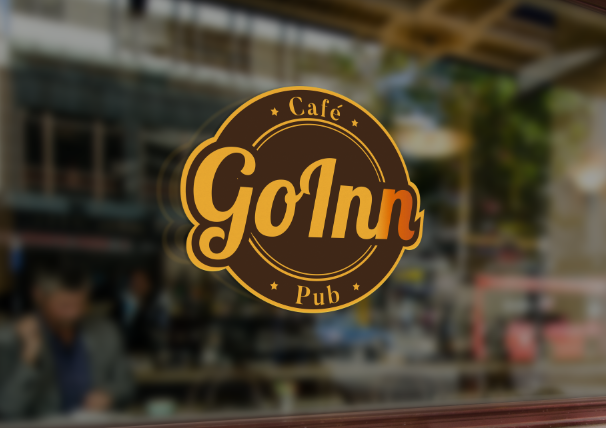 848351 Cafe Go Inn Pub Logo Design Emblem