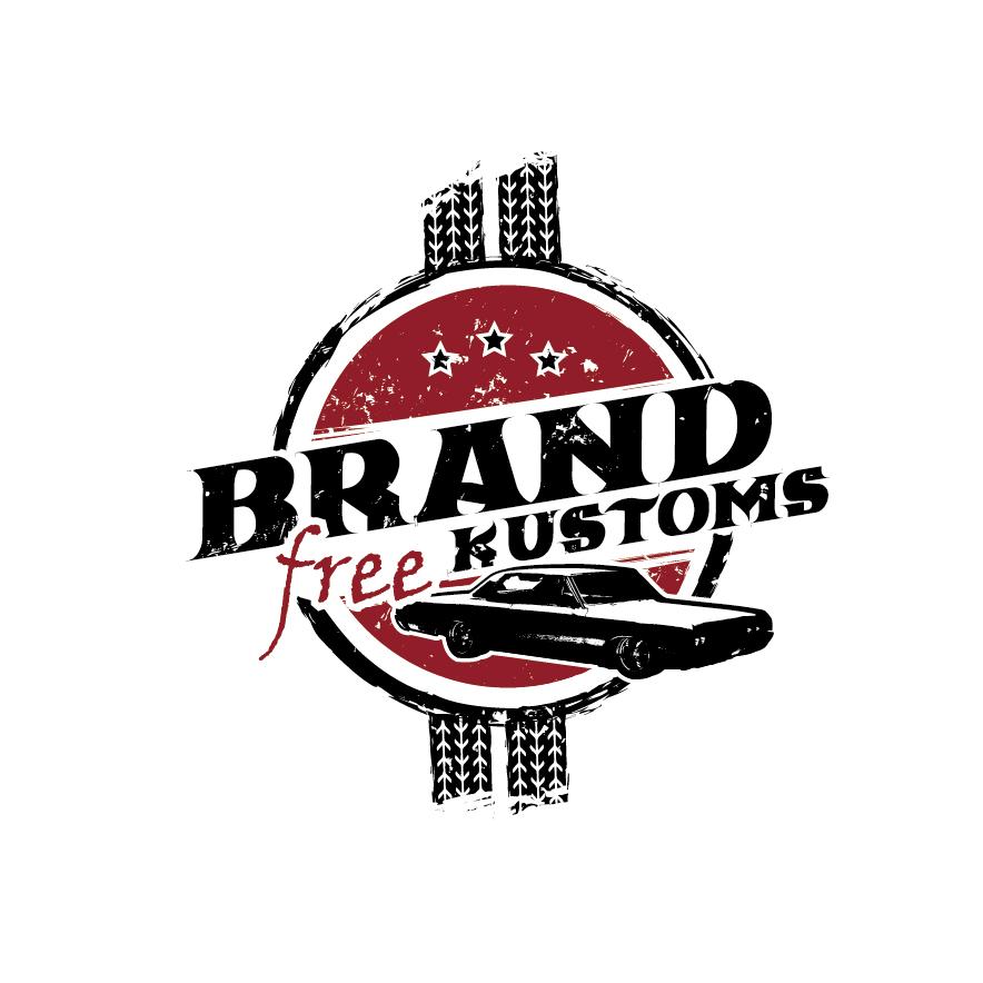 Emblem 717321 Brand Free Kustoms Vintage Logo