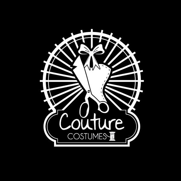 Logo Retro 174847 Couture Costumes Black And White