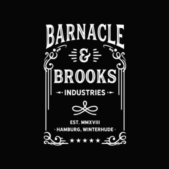 Retro Logo Design Barnacle Brooks Industries 313947 Black White