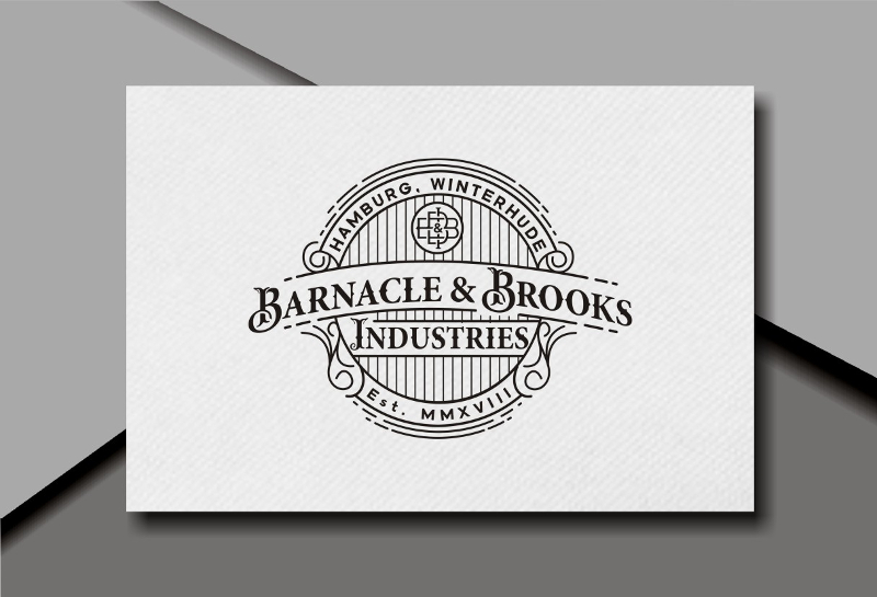 Retro Logo Emblem 313947 Barnacle Brooks Industries