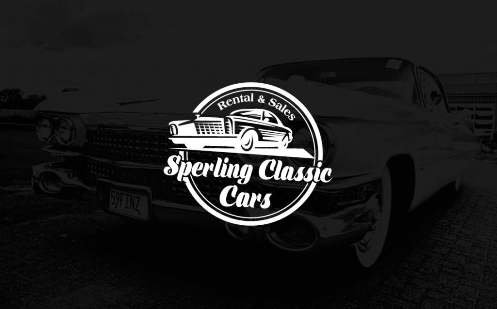 Retro Logo Sperling Classic Cars 358835 Weiß Schwarz