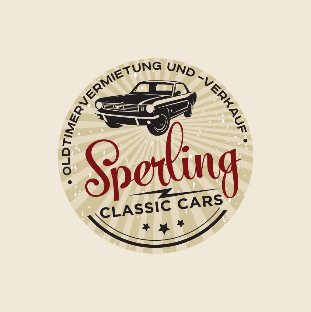 Rundes Vintage Logo Sperling Classic Cars 358835
