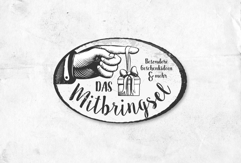 Schwarz Weiß Vintage Logo 323951 Das Mitbringsel