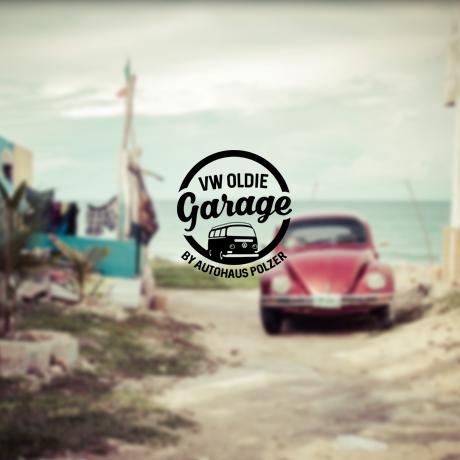 Vintage 511551 VW Oldie Garage Rundes Logo