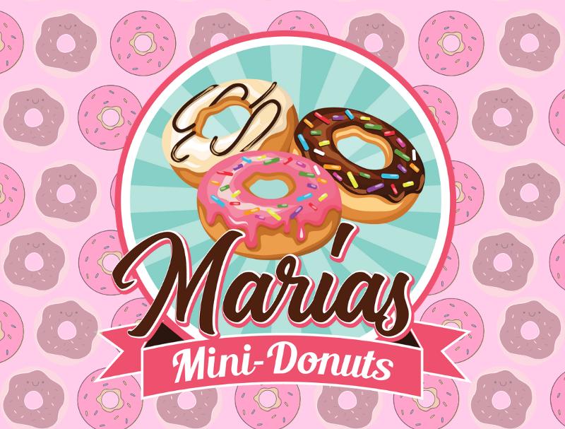 Vintage Farben 311891 Marias Mini Donuts Logo Design