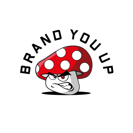 brand you up nerd logo illustriert