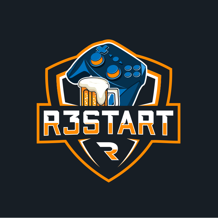 controller logo r3start gaming nerd