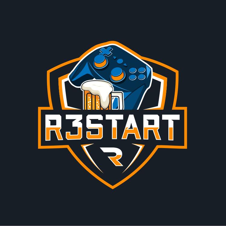 controller logo r3start gaming nerd