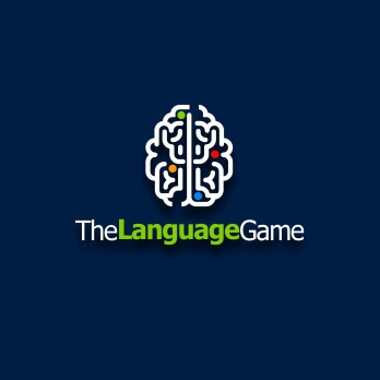 game logo minimalistisch the language game