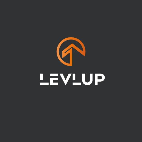 levlup gamer logo minimalistisch