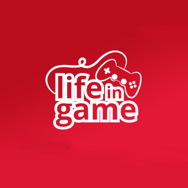 life in game logo controller gaming