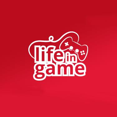life in game logo controller gaming