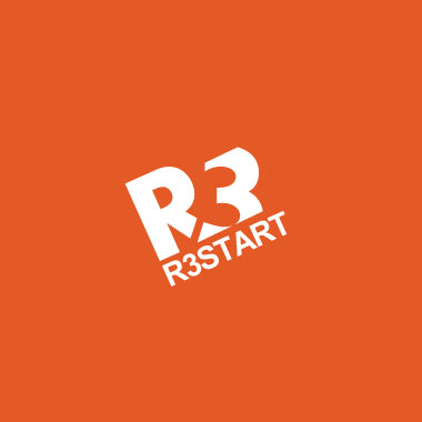 r3start gaming logo wordmark