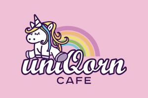 uniQorn Cafe Pink Logo