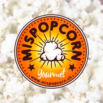 592524 Orange Logo Mipopcorn Emblem Design