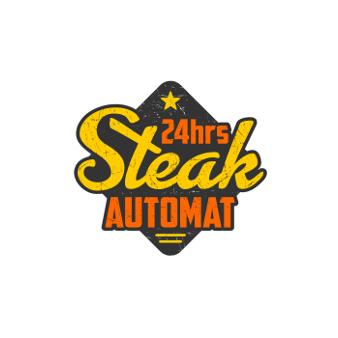 Emblem 24hrs Steak Automat Orange Logo 162757