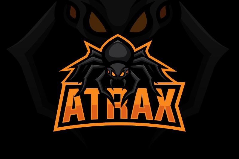 Emblem Logo Farbe Orange Atrax 448597