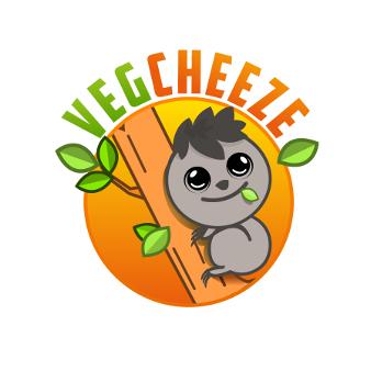 Farbe Orange Logo Vegg Cheeze 342153 Illustration