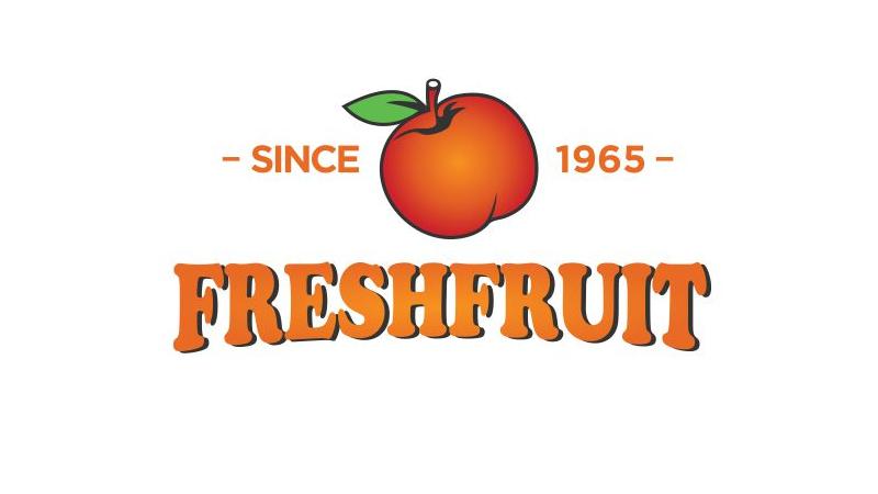 Farbton Orange Illustriertes Logo FreshFruit 217734
