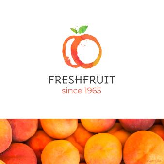 Kreativ Orange Logo Fresh Fruit 217734