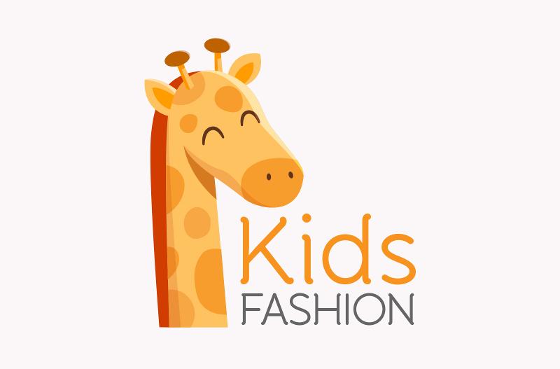 Kreatives Orange Logo Kids Fashion 463538