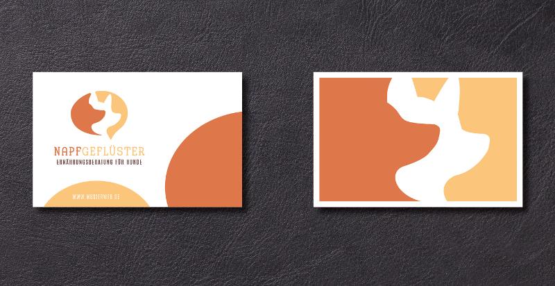 Orange Farbtöne Logo Design Napfgeflüster 886593