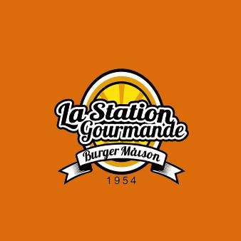 Orange Logo Emblem La Station Gourmande 836575