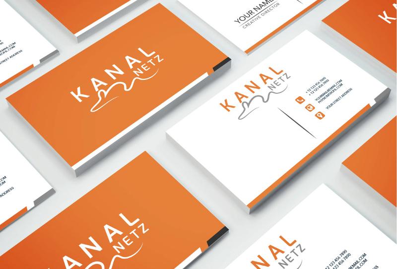 Orange Logo Kanal Netz 142959 Minimalism