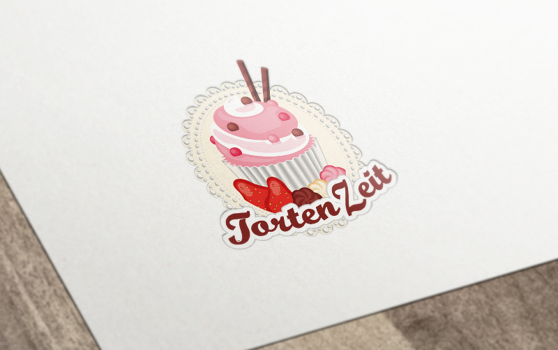 Illustration Logo-Design Bäckerei TortenZeit 212221