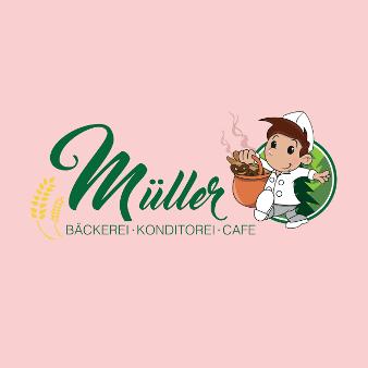 Illustriertes Bäckerei Logo Müller 113193