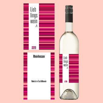 Lieblingswein 417436 Weinetikett Design