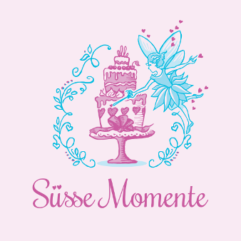 Süße Momente Illustration Bäckerei Logo 815247
