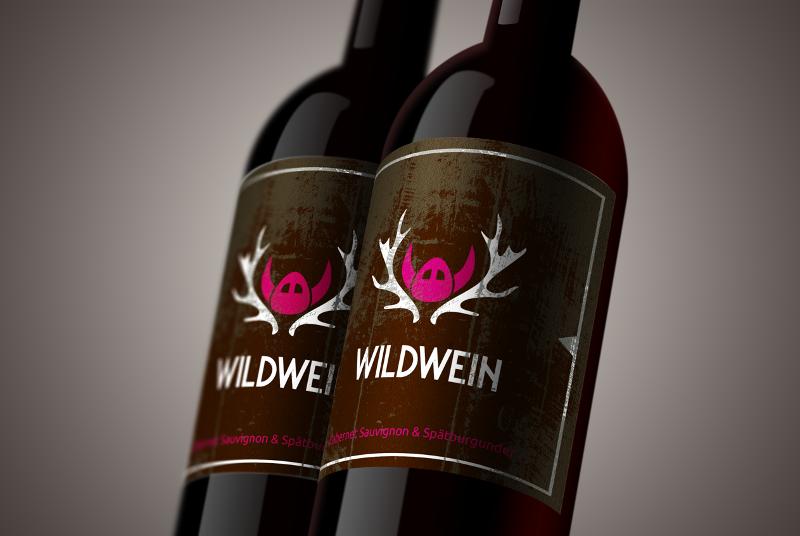 Weinetikett Elegant 788413 Wildwein