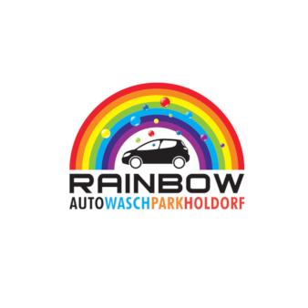 Autowaschparkholdorf Rainbow Logo Design 135974
