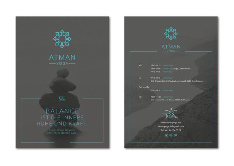Design Flyer Atman Yoga 566633