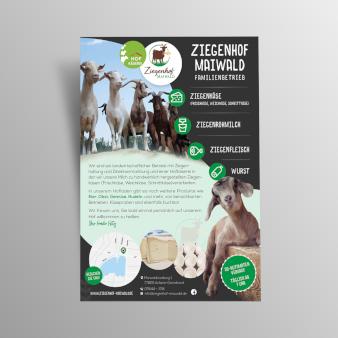 Einseitiges Flyer-Design 477499 Ziegenhof