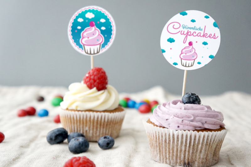 Farbiges Logo Himmlische Cupcakes 128917