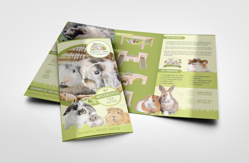 Fellnasen Shop 292437 Flyer Design entwickeln