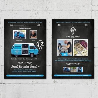 Mobiles Eiscafe 296964 Flyer Design Retro Style