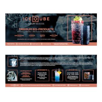 Premium Eis Produkte Flyer Design 691818