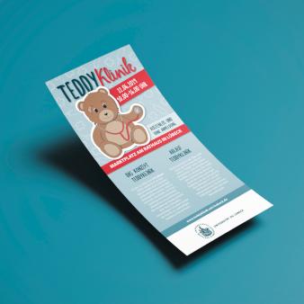 Teddy Klinik Flyer-Design einseitig 333847