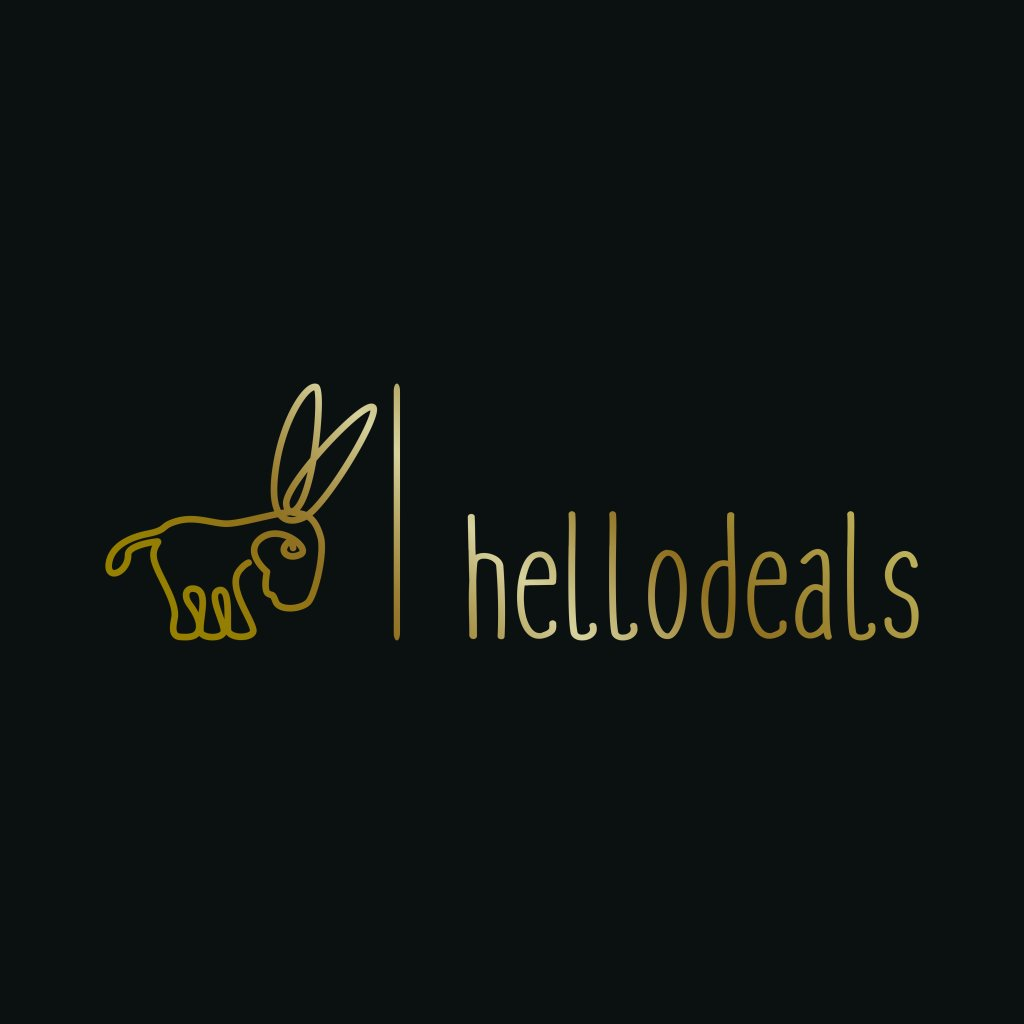 763559 Hello Deals minimalistisches zartes Logo Design